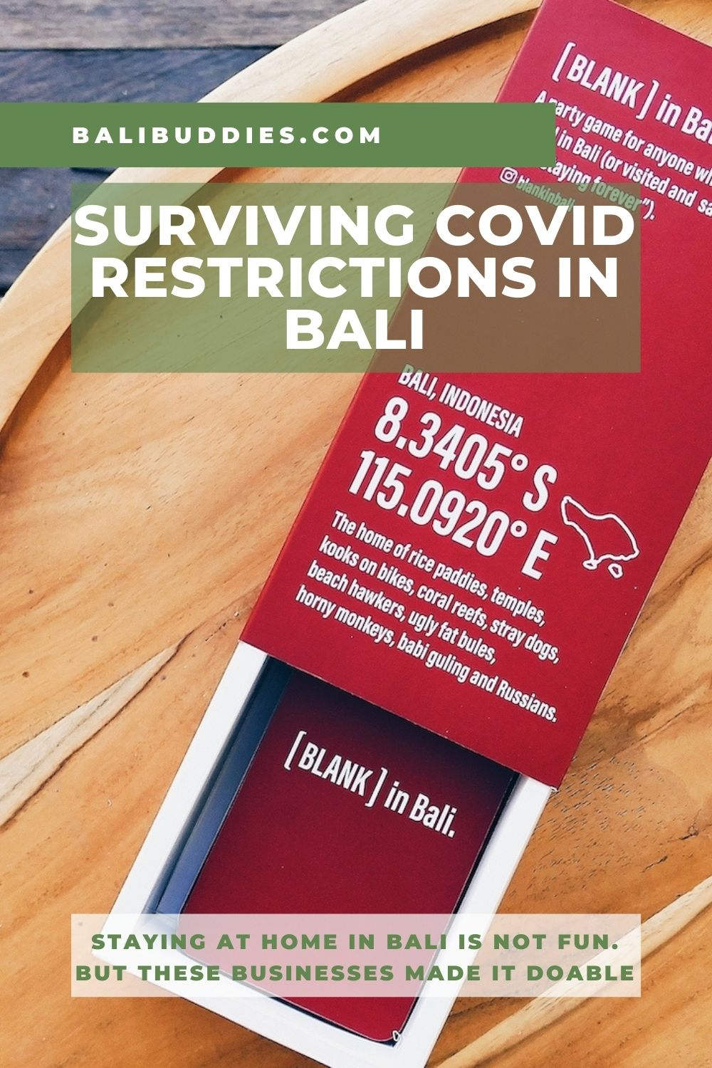 Surviving Covid Restrictions in Bali - Blank in Bali - Blog by Bali Buddies