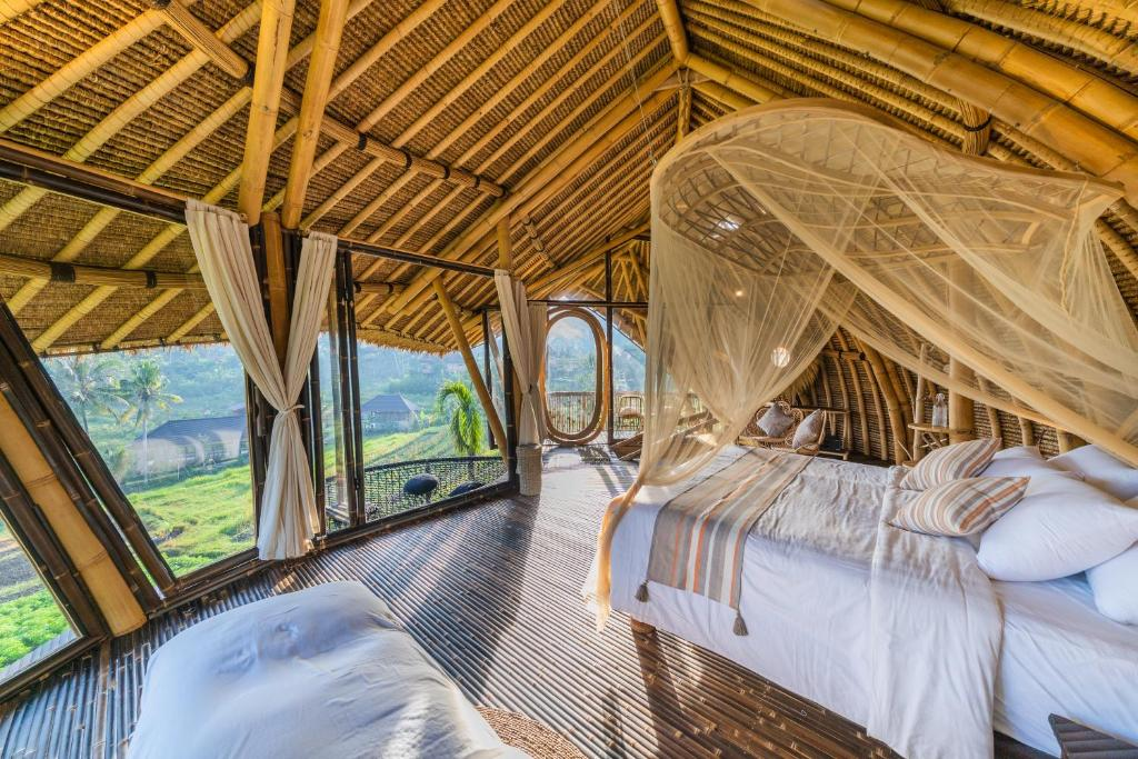 Room with a view at Veluvana Bali Sidemen