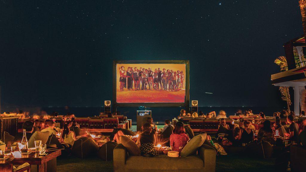 Watching a movie under the stars at Ku De Ta in Bali