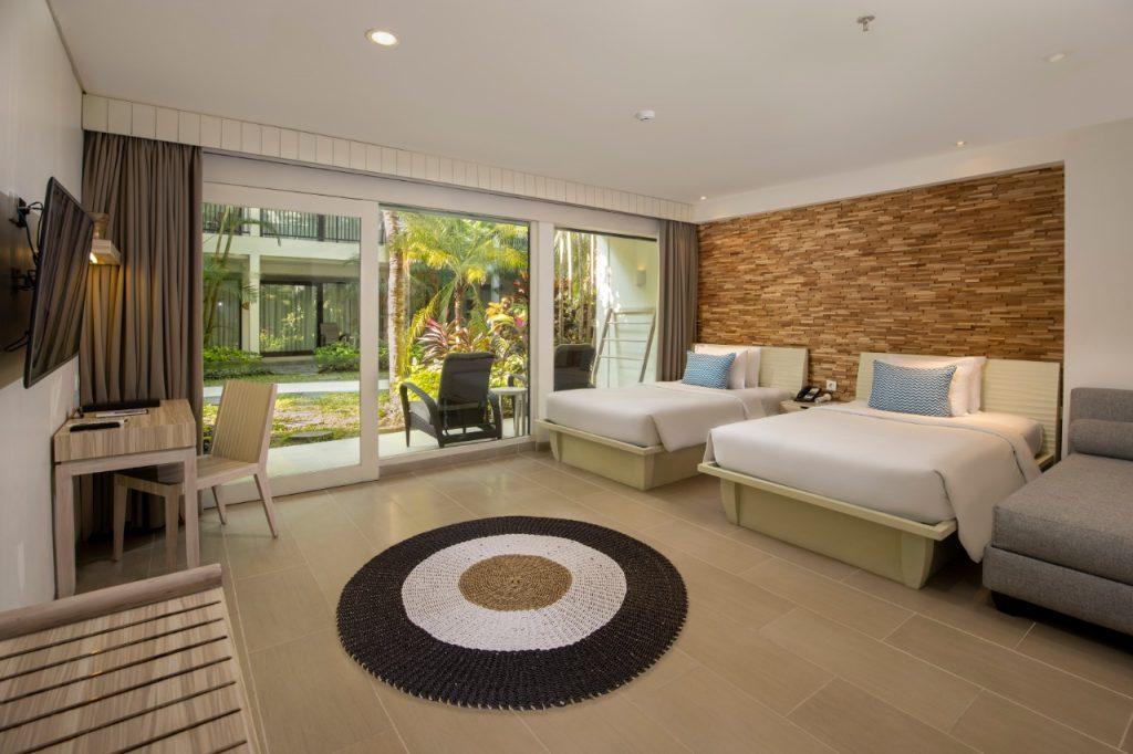 Guest room at Away Resort Legian Camakila