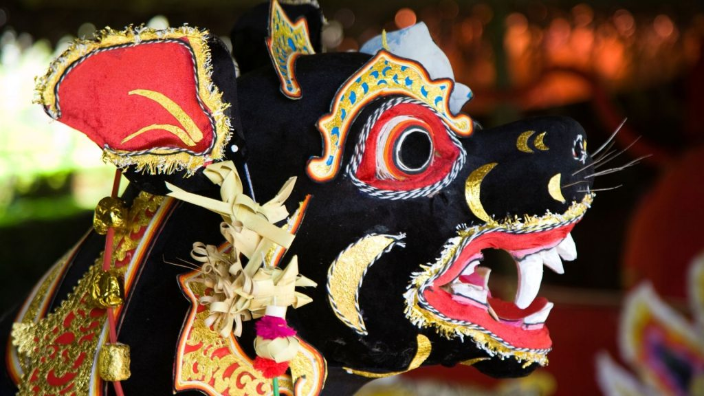 Celebration of one of the tumpek holidays in Bali
