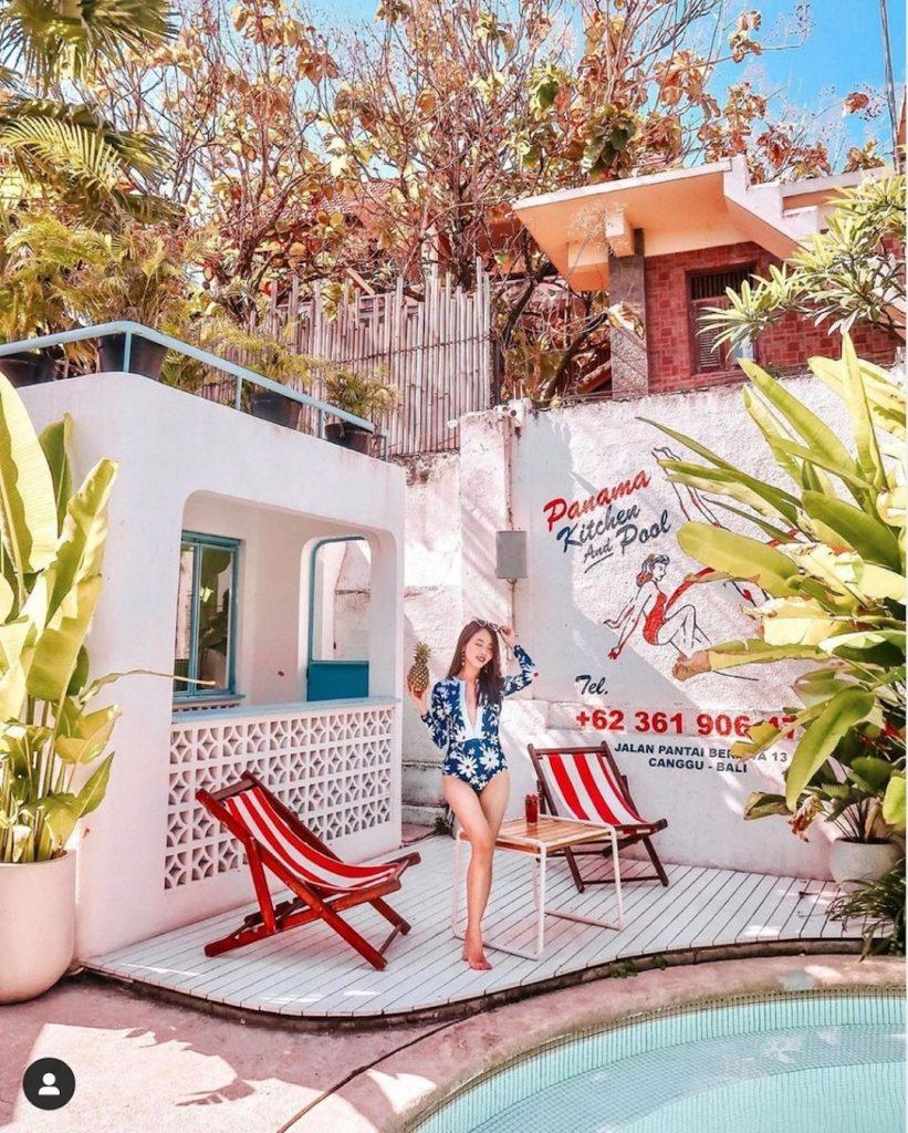 Panama Kitchen and Pool in Canggu by @jujujucloe