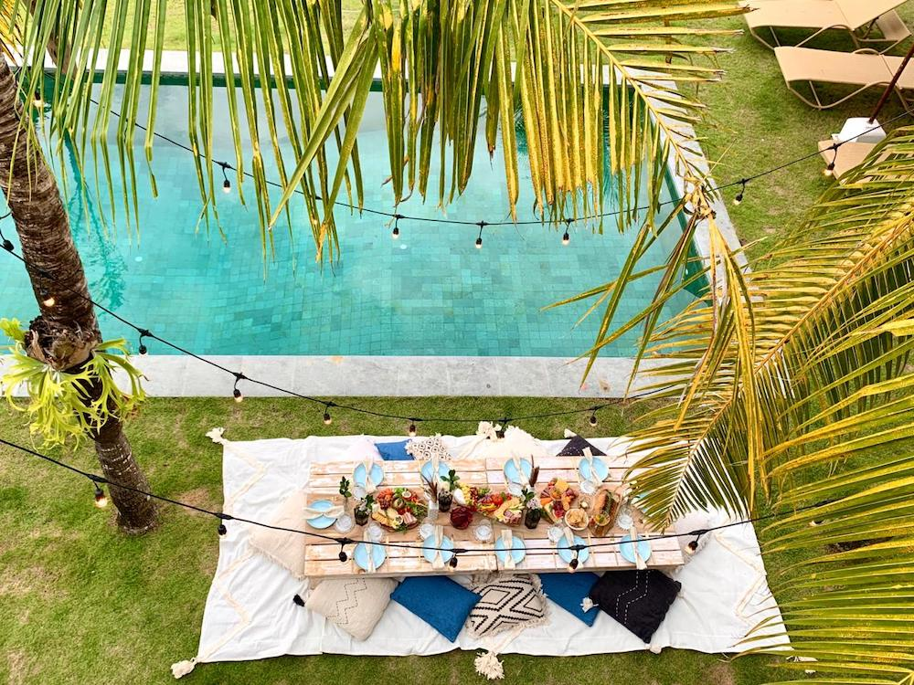 Picnic by the pool by Boho