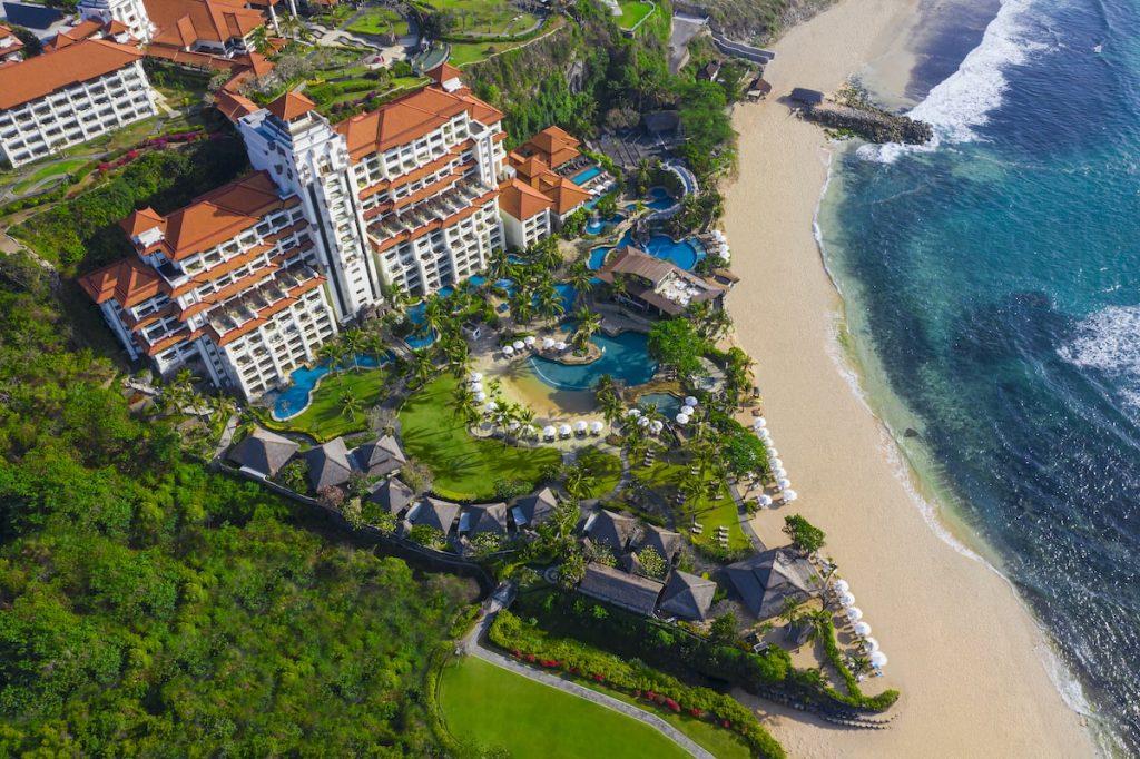 Aerial view of Hilton Bali