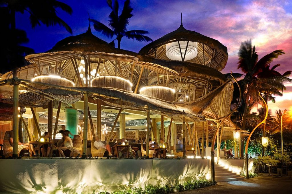 Azul Beach Club in Legian by night
