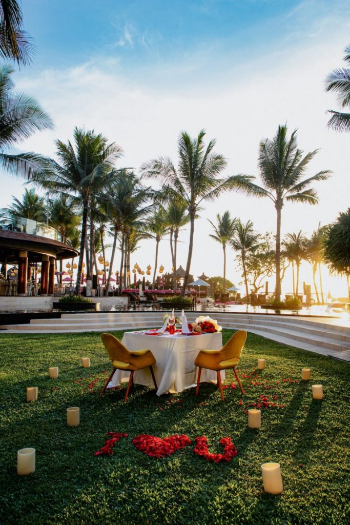 Dining for two at the W Bali Resort