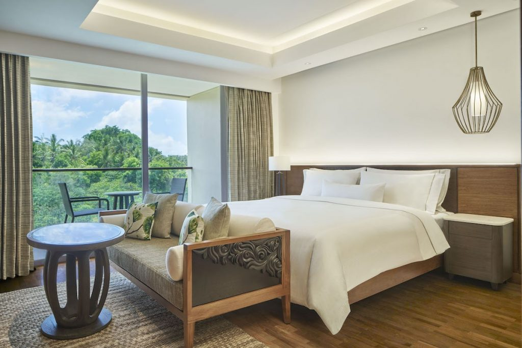 Guest room with jungle view at The Westin Ubud