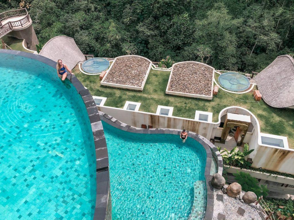 Kenran Ubud - Tiered infinity pool