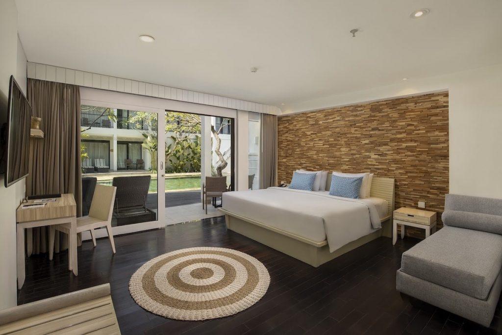 Guest room at Away Resort Legian in Bali