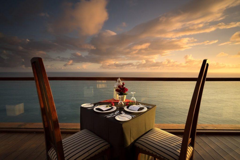 Sunset dinner at The edge Bali