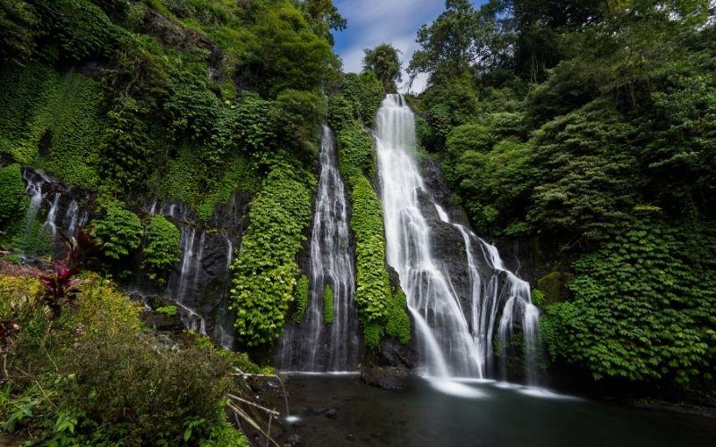 The Beautiful Banyumala Twin Waterfal in Bali