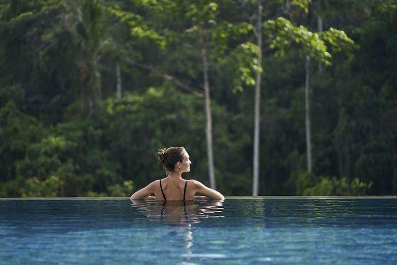 Girl enjoying her day pool pass at The Westin Ubud