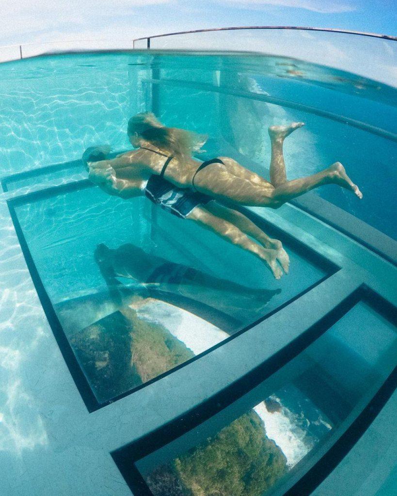 Glass Bottom Pool at Oneeighty Bali