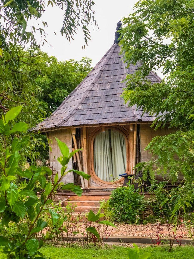 One of the bamboo rooms at Maringi Resort by Sumba Hospitality Foundation