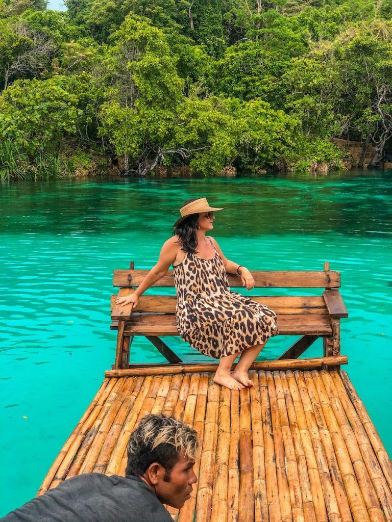 Raft rides at Weekuri Lagoon
