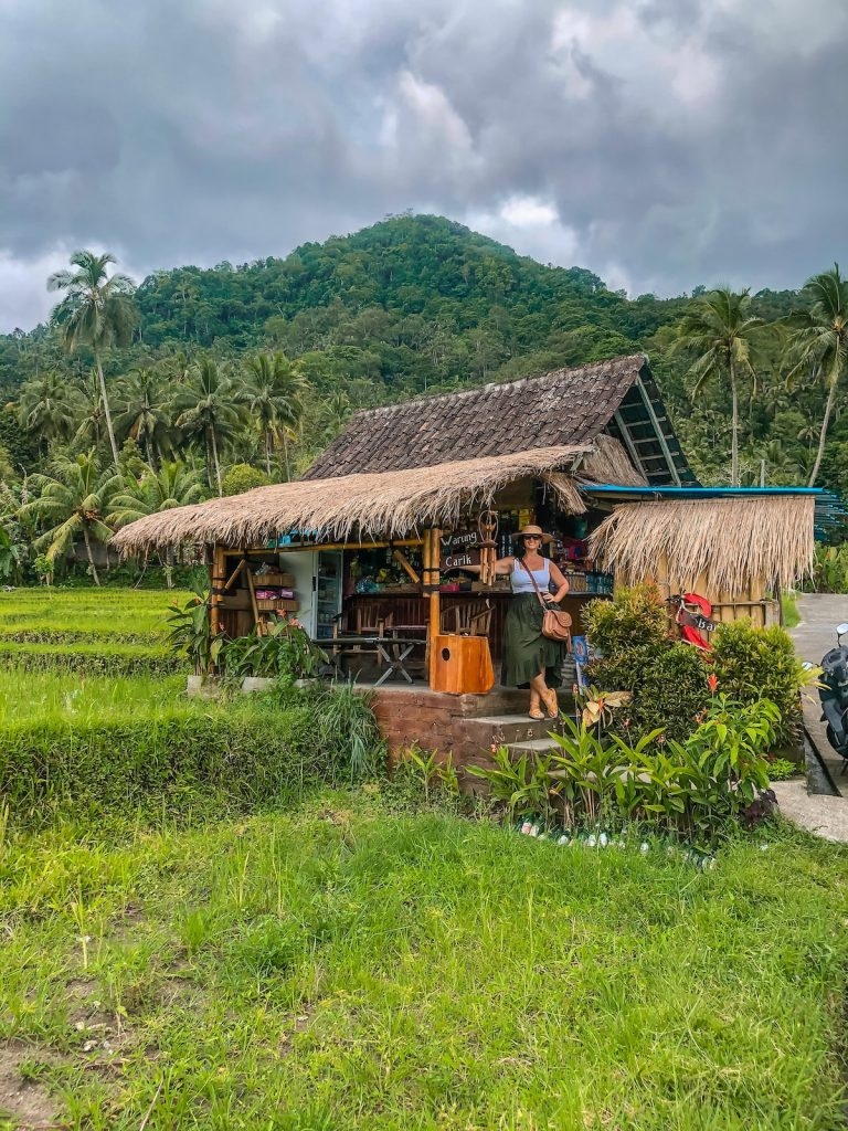 Hiking through the ricefields of Sidemen