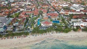 Aerial shot of Kuta