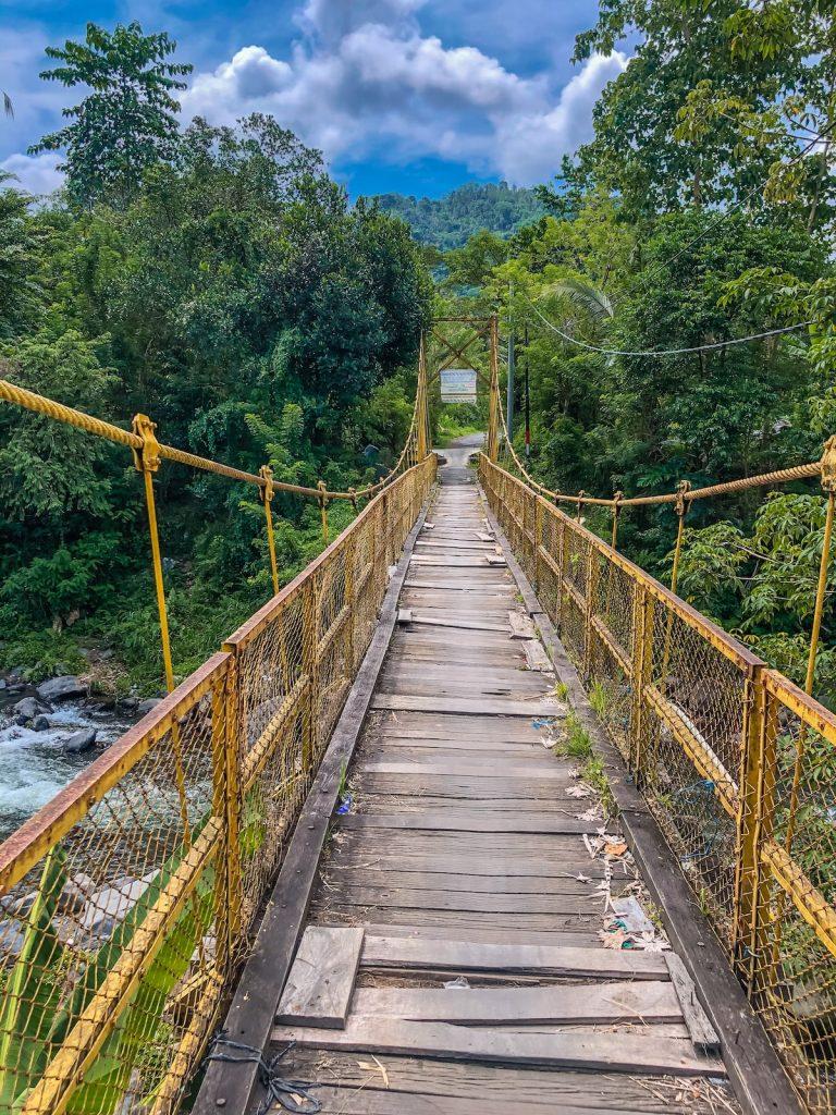 The yellow bridge in Sidemen, Bali