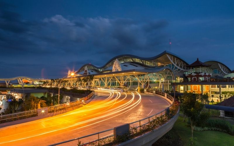 Bali Airport by Night