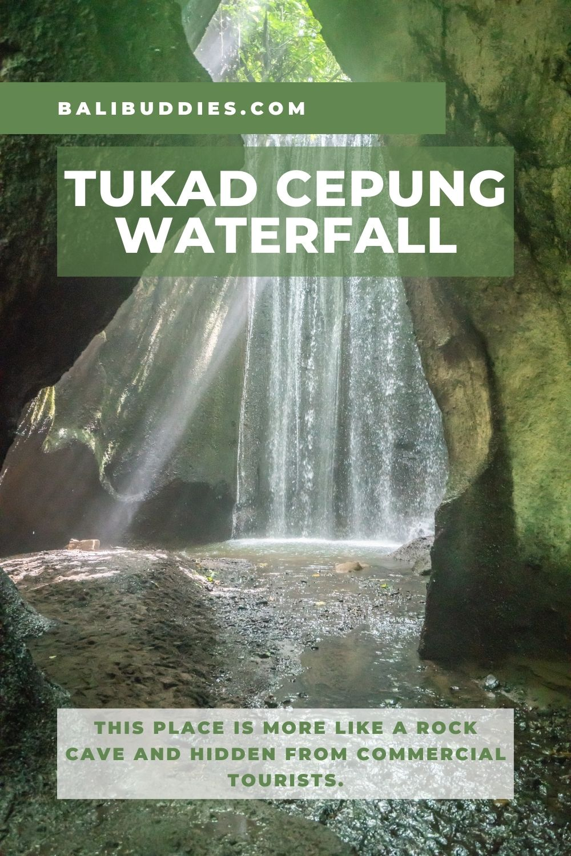 Tukad Cepung Waterfall Pin 1