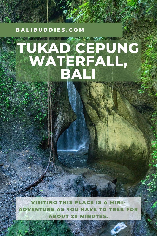 Tukad Cepung Waterfall Pin 2
