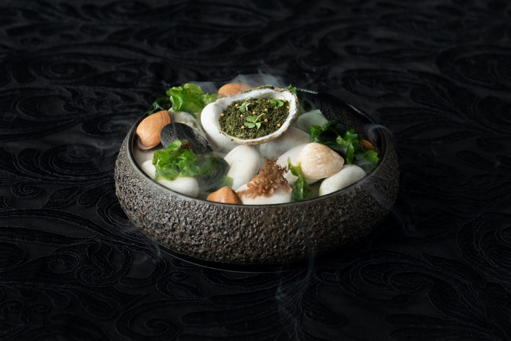 Canapes Oyster served at Apéritif Restaurant in Bali