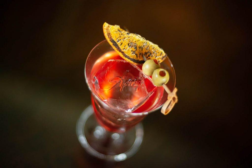 Negroni cocktail at Apéritif