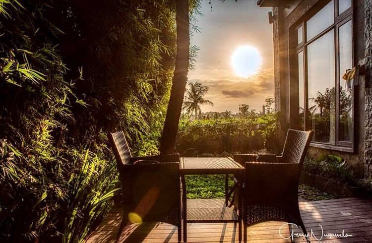 Enjoy the outdoor space of Bisma Cottages