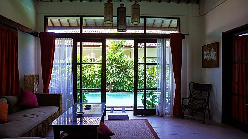 The pool is very accessible from any rooms of Kembali Lagi Guest House