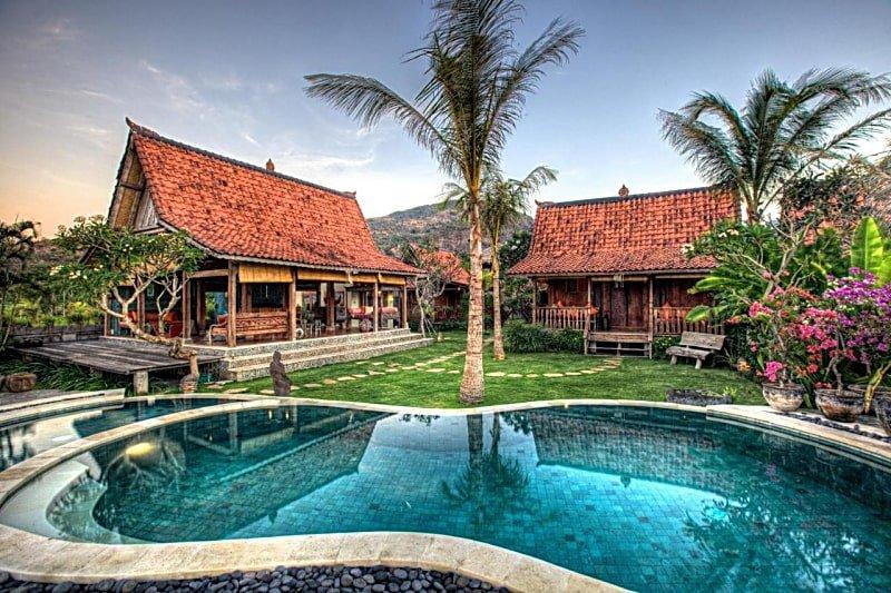 The swimming pool at The Kampung
