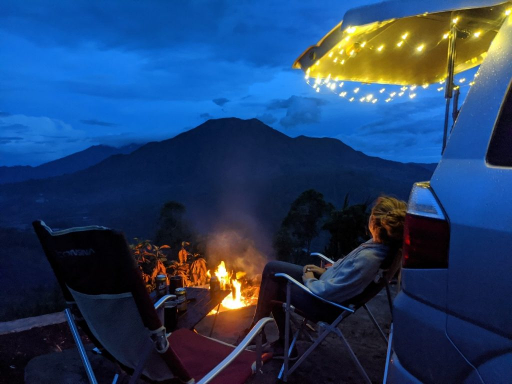 Bali Campers in the night