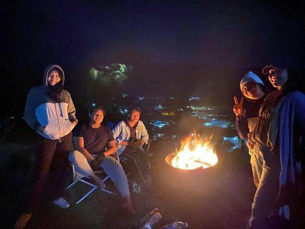 Camping at night at Puncak Lestari