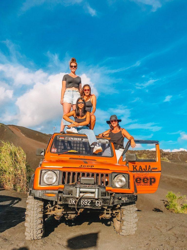 Jeep riding at the camping spots near kintamani