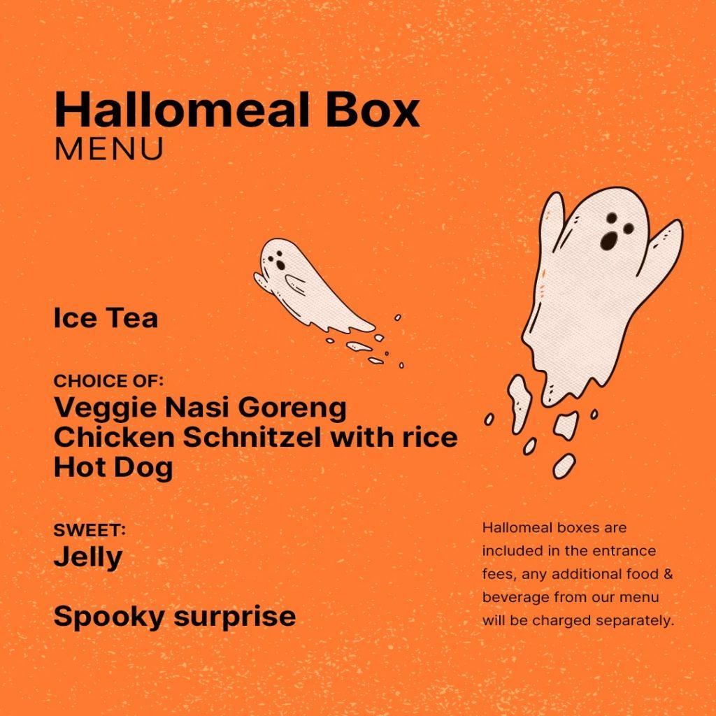 Hallomeal Box menu