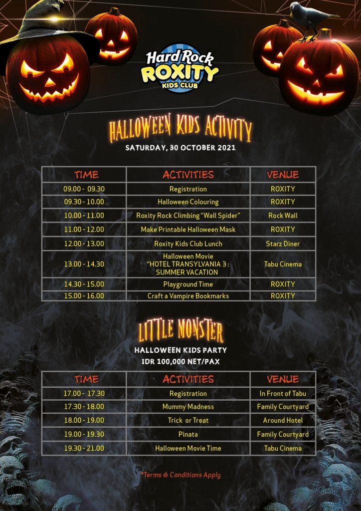 Hard Rock Roxcity Halloween Activities - 2021