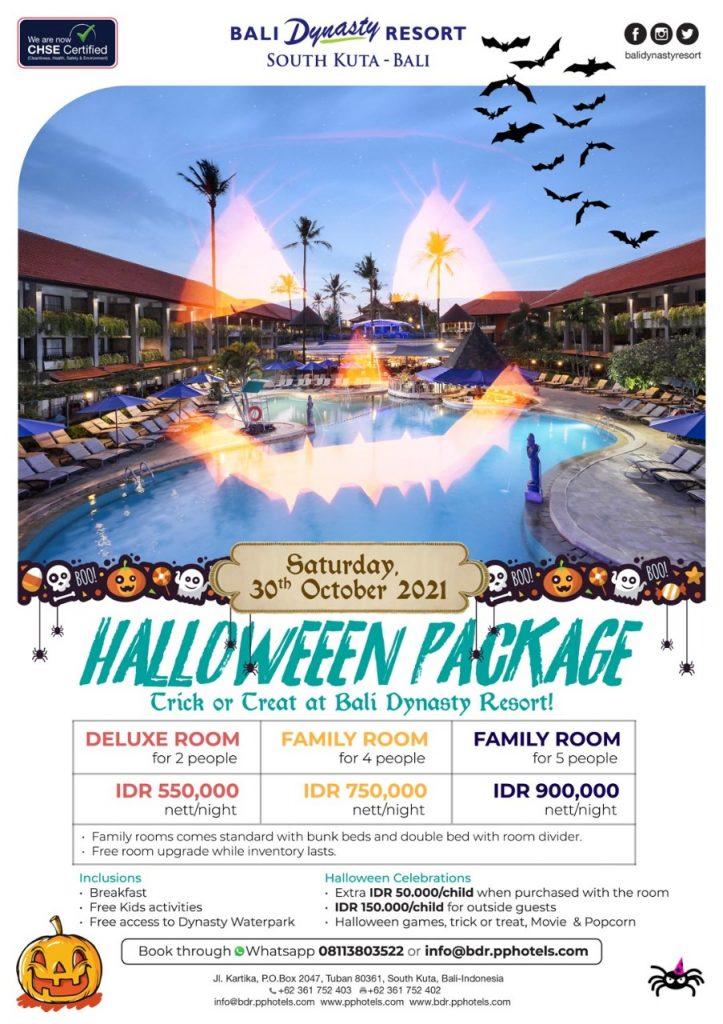 Halloween Package details of Bali Dynasty Kuta