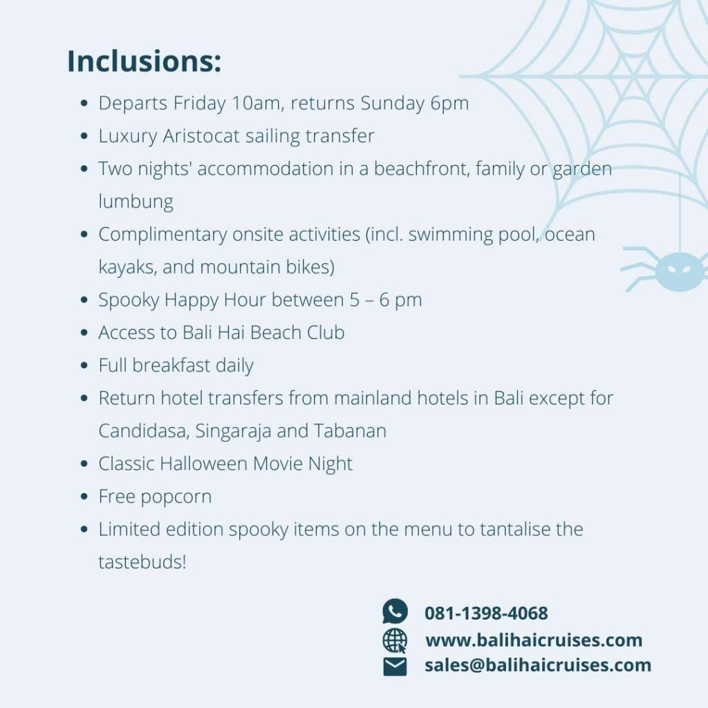 Halloween Weekend Escape Inclusion