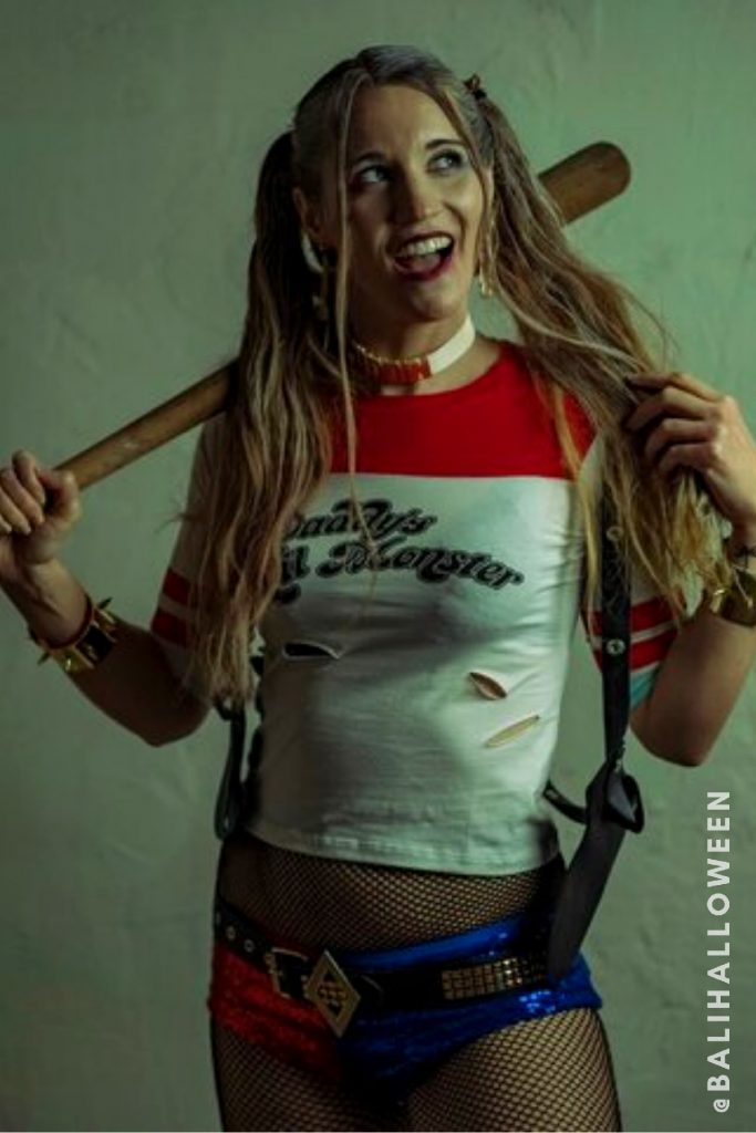 Wear Harley Quinn costume from BALI HALLOWEEN 2021 AT GENERAL STORE BALI