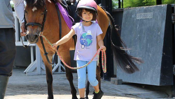 A girl at Bali Equestrian Centre