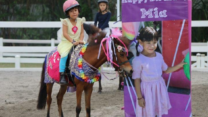 Celebrating birthday at Bali Equestrian Centre